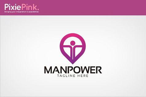 Manpower Logo Template Logo Templates Logo Design Business Card Logo