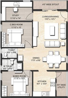 1000 Sq Ft House Plans With Car Parking 2017 Including Popular Plan Pictures 2bhk House Plan Contemporary House Plans Duplex House Plans