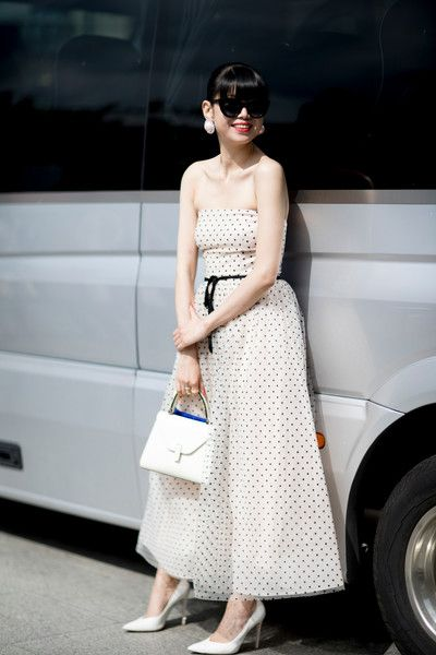 Pretty Polka Dots - Inspiring Outfit Ideas From Paris Couture Week - Photos