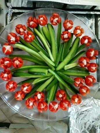 Blumenstrauß aus Wurst und Grünzeug - Anne Burker - #Anne - #Anne #aus #Blumenstrauß #Burker #Grünzeug #und #Wurst
