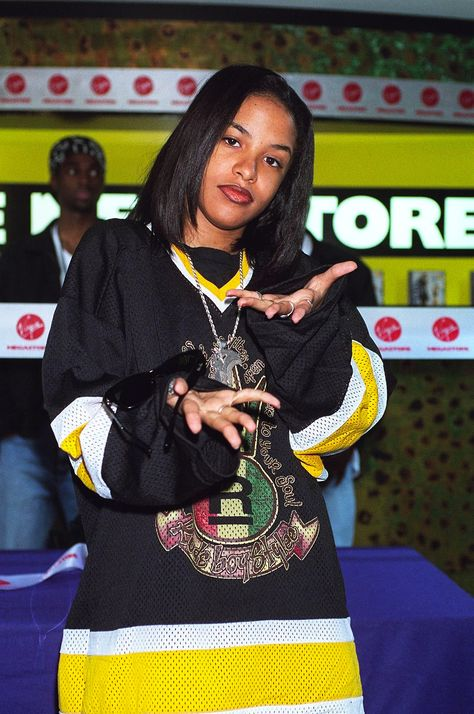 Aaliyah — Aaliyah  Age Aint Nothing But A Number Signing in...