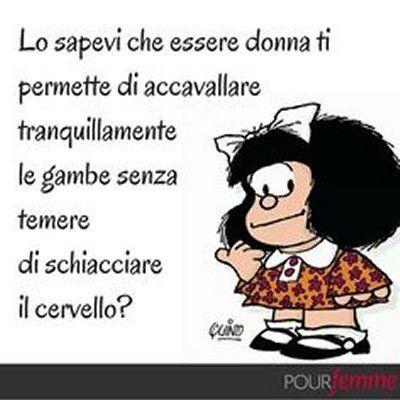 Mafalda accavallare le gambe | Citazioni divertenti, Citazioni umoristiche,  Citazioni ironiche