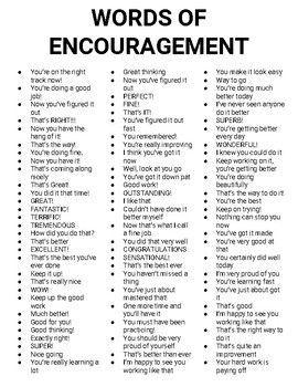 Words Of Encouragement Roombop Writing Words