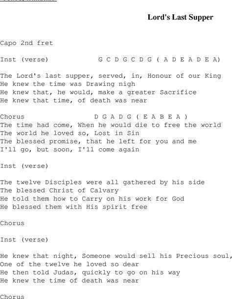 The Lords Last Supper Bluegrass Lyrics Song Lyrics Pinterest