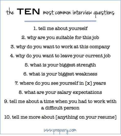 How to answer the most common interview questions Common - thank you informational interview