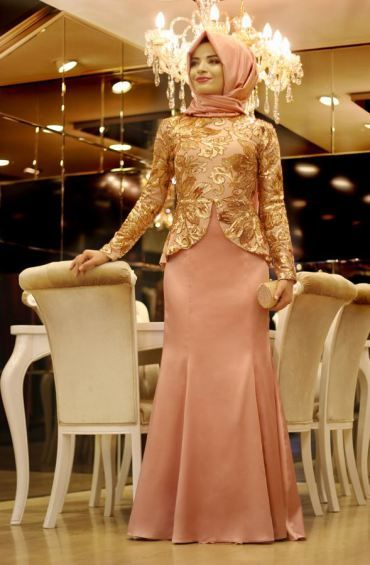 فساتين سواريه للمحجبات بسيطة مودرن شيك ميكساتك Fashion Clothes Women Soiree Dress Muslim Women Fashion
