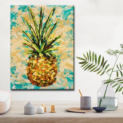 Fiesta Pineapple Canvas Wall Art Large Canvas Wall Art Wall Canvas Inspirational Wall Art