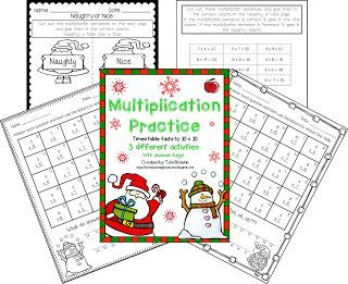 Free Christmas Multiplication Practice Classroom Freebies Christmas Multiplication Christmas Math Activities Christmas Math Worksheets