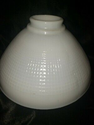 Vintage Torchiere Lamp Shade Milk Glass Waffle Pattern 2 7 8 Fitter X 10 In 2020 Torchiere Lamp Shade Torchiere Lamp Milk Glass