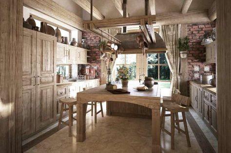 Idee per arredare la cucina in stile rustico   Idee per arredare la ...