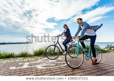 Healthy Lifestyle People Riding Bicycles Bicycle Healthy Lifestyle Riding