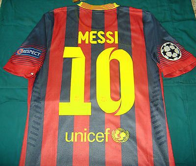 NIKE FC BARCELONA L. MESSI AUTHENTIC MATCH HOME CHAMPIONS LEAGUE JERSEY 2013/14