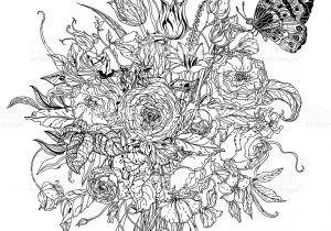 Mano Disegno Bianco E Nero Mandala Fiori Immagini Vettoriali Stock