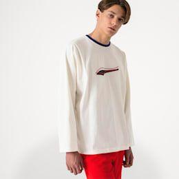 Men's PUMA x Ader Error Long Sleeve Shirt in Whisper White