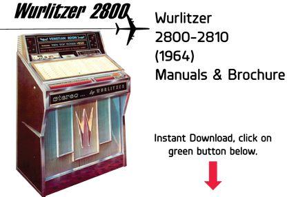 Wurlitzer Model 2300-2310 (1959) Manual Jukebox Manual available $15
