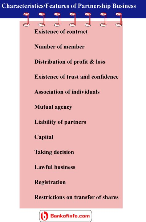 Characteristics Of Partnership Business  Business