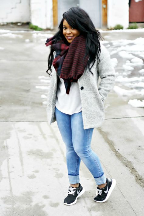 Forever 21 jacket, H&M shirt and jeans / Primark scarf / Nike shoes Happy New Year! I hope you all had a great NYE .