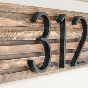Creative Diy House Number Signs Address Plaques Modern House