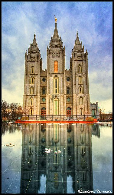 Salt Lake City LDS Temple. I want to go see this place one day. Please check out my website thanks. www.photopix.co.nz