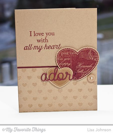 All My Love stamp set and Die-namics, Tiny Hearts Background, Love and Adore You Die-namics - Lisa Johnson #mftstamps