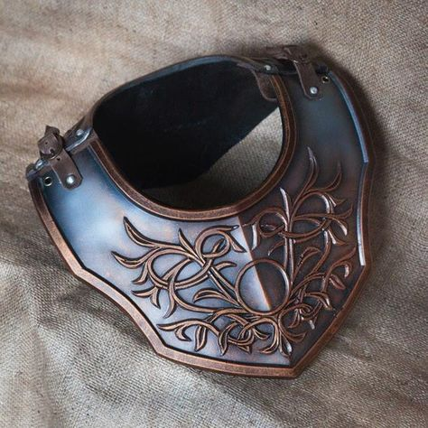 Fantasy warrior gorget, Knight, Medieval, LARP, Fantasy, LOTR, Armor, Cosplay