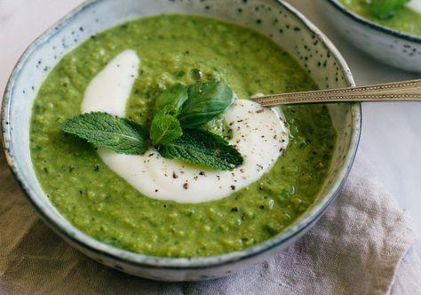 Een groene soep voor zomerse avonden. Lekker, makkelijk en gezond!
