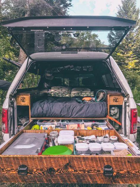 Camping Van Videos - Camping Fun At Night - - Camping Trailer Must Haves - Scout Camping Theme - Truck Topper Camping, Truck Toppers, Truck Camping, Minivan Camping, Pickup Camping, Truck Bed Camper, Camper Life, Truck Camper Shells, Kangoo Camper