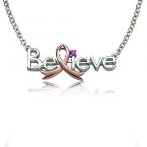 Promise Of Hope Believe Pink Gemstone Pendant Necklace With Images Pink Gemstone Pendant