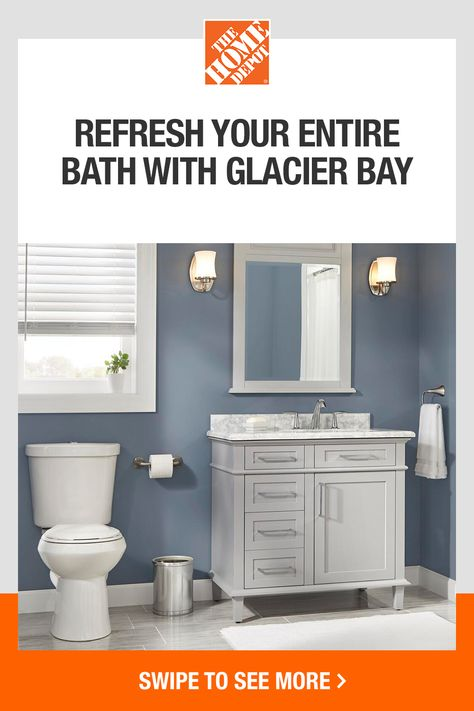 Shop a wide variety of products and styles for your bathroom space. Get the latest in innovation and technology with QuickConnect toilets, explore on-trend shower curtains and more – all at the best value. Tap to get started at The Home Depot.