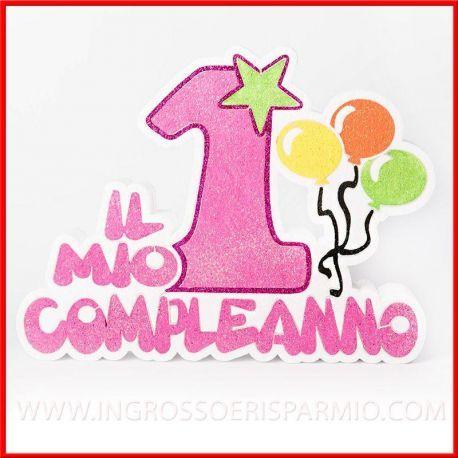 Polistirolo Decorato Il Mio Primo Compleanno 1 Anno Bambina Idee
