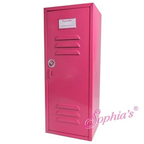 Hot Pink Metal Doll Locker Fits American Girl Dolls