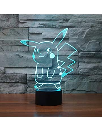 Pokemon Pikachu 3d Led Night Light Elstey 3d Optical Illusion Visual Lamp 7 Colors Touch Table Desk Lamp 3d Led Night Light Pokemon Night Light