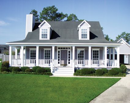 Wrap Around Back Porch One Story House   Houses With Porches Country House  Plans House Plans   Wrap Around Porch   Pinterest   Story House, Country  Houses ...