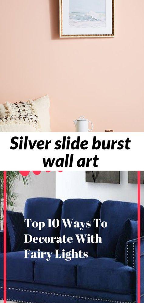 Silver slide burst wall art