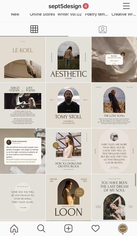 Instagram templates for Writers, authors, and poets #instagramdesign