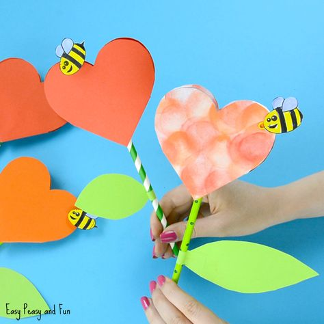 We have another wonderful heart and flower craft to share with you! This paper heart flower craft is perfect both for Mother's day (a great alternative to your regular Mother's day card) or for V-day. It's also a great flower craft idea for kids to make any other day of the year when they just …