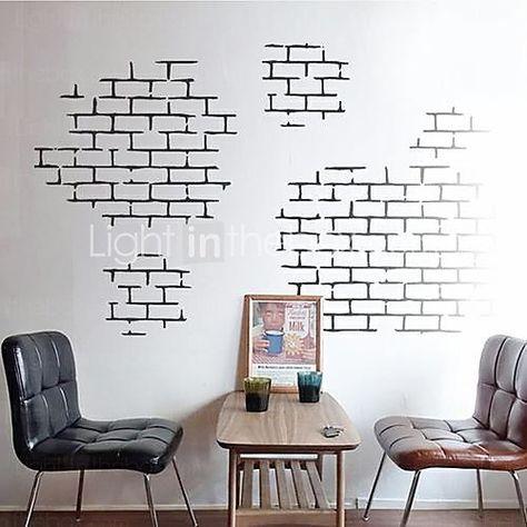 New Fish Seabed NEMO Wall Sticker Cartoon Wall Sticker Decor Removable Vinyl Nursery Kids Room Decals Wall Decor Stickers, Vinyl Wall Decals, Window Stickers, Window Decals, Tape Wall Art, Tape Art, Modern Wall Decals, White Brick Walls, Brick Texture
