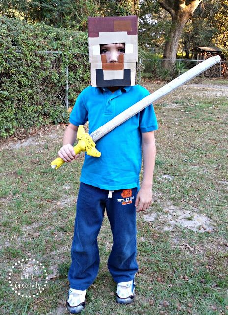 Make Your Own MINECRAFT Costume {Easy DIY