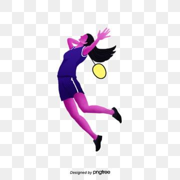 Element Female Shuttlecock Racket Badminton Racket Jump Motion Athletes Physical Exercise Badminton Clipart In 2020 Clip Art Cartoon Posters Shuttlecocks