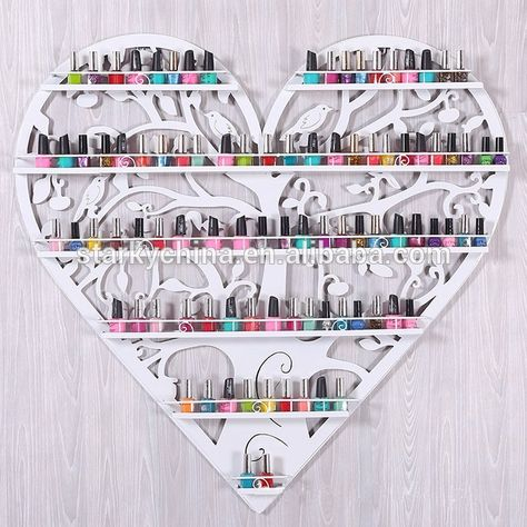 Heart Shape Nail Polish Wall Display,Wall Mounted Display Stand For Nail Polish…