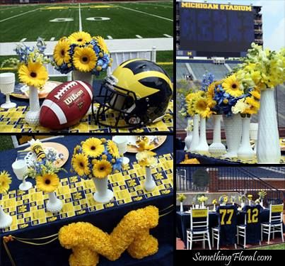 206 best true blue weddings images on pinterest blue weddings a university of michigan football themed co ed wedding shower for the junglespirit Images