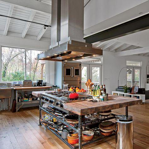 The Top 10 Best Neighborhoods For Wannabe Top Chefs Industrial Decor Kitchen Industrial Kitchen Design Industrial Kitchen Island