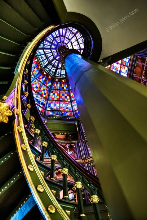 """""""Capitol Castle"""" Baton Rouge's Old State Capitol staircase and ceiling."""