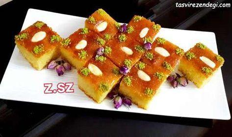 طرز تهیه کیک بسبوسه Basbousa عربی با آرد سمولینا مجله تصویر زندگی Persian Food Pav Recipe Food