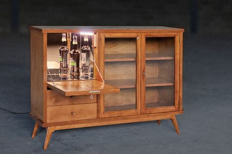Credenza Con Bar : Aparador retro con mueble bar fully restored vintage sideboard