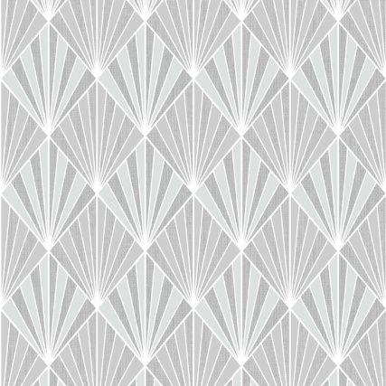 Aster Geo Wallpaper Silver Diy Wallpaper B M Geo Wallpaper Diy Wallpaper Geometric Inspiration
