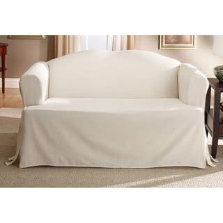 Perfect Fit Relaxed Fit Cotton Duck Sofa Slipcover In Natural Slipcovers For Chairs Furniture Slipcovers Loveseat Slipcovers