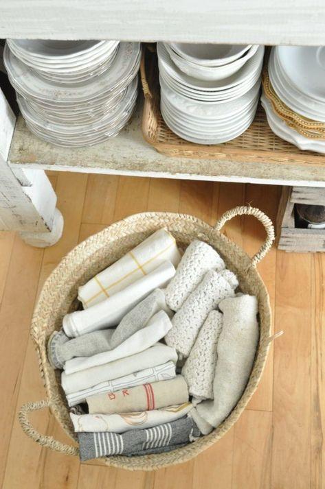 Becky S Farmhouse Dish Towel Storage