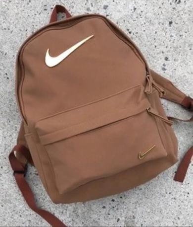 Brown nike women bag