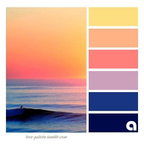 Colors Palettes Hues Sunset Color Palette Beach Color